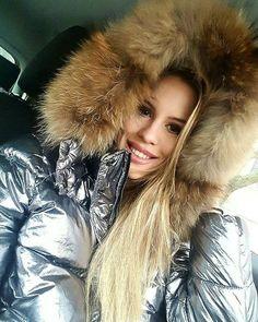 Fur hood (furhoods) Tags: fur hood down puffer winter coat jacket shiny