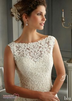 Shop Morilee's Morilee Bridal Patterned Embroidery Design on Net over Satin Slip Wedding Dress. Wedding Dresses and Bridal Gowns by Morilee. An elaborately embroidered Net sheath lays atop a Satin slip dress, creating an ultra glamorous bridal Dress. White Wedding Gowns, 2015 Wedding Dresses, Wedding Dress Styles, Designer Wedding Dresses, Bridal Dresses, Bridesmaid Dresses, Dresses 2014, Wedding Lace, Gown Wedding