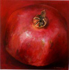 "Saatchi Online Artist: Kamille Saabre; Acrylic 2012 Painting ""pomgranate"""
