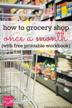 Want to try your hand at once-a-month menu planning? Read this post for tips on how to grocery shop once a month! It includes a FREE printable workbook.