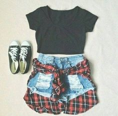 264a6aea0cbf Teens school outfit with denim jeans