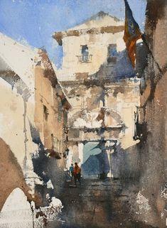 Chien Chung-Wei     吉洛納午後 , 37.2 x 27.4 cm , Watercolor , 2016