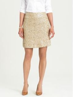 Dayna sequin skirt $98 #banana_republic