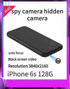 description This is a portable mobile phone spy camera that can make phone calls. We modified the rear camera of the iPhone 6s to the earphone hole at the bottom of the phone, which will not affect the normal use of the phone. With the help of dedicated APP software, black screen recording can be achieved. All parameters of the mobile phone are subject to the parameters of the official website. Hidden Spy Camera, Black Screen, 4k Hd, Used Iphone, New Phones, Security Camera, Easy To Use, Videos, The Help