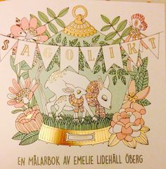 Swedish colouring book Sagolikt by Emelie Lidehall Oberg