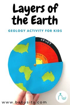 Help kids understand the layers of the Earth with this awesome and easy geology activity. Create the Earth's crust, mantle, outer core and inner core! Geography For Kids, Geography Activities, Kindergarten Activities, Activities For Kids, Earth Science Projects, Science Experiments Kids, Science For Kids, Earth Science Activities, Science Montessori