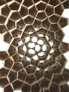 UNIVERSITY OF STUTTGART - There is some great work coming out of the Institute for Lightweight Structures and Conceptual Design: MDF Honeycomb.