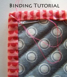 quilt binding free tutorial - excellent and easy. I have never made a quilt or done a binding before. This was super simple. Clear directions.