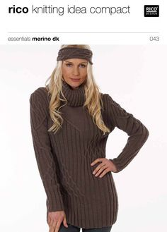 Sweater with Cable Pattern in Rico Essentials Merino DK - 043. Discover more Patterns by Rico at LoveKnitting. The world's largest range of knitting supplies - we stock patterns, yarn, needles and books from all of your favorite brands.