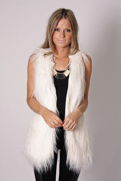 winter faux fur vest.. dammit, idk why i WANT this vest!