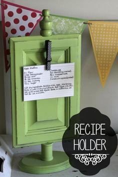 Recipe Holder Tutorial (Could hold pictures too!)