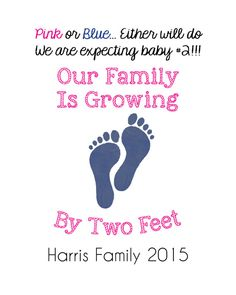 Pregnancy Announcement, Baby Announcement Wine Bottle Label, Custom Wine Label Pregnancy, Growing By Two Feet