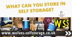The list of things which you can store in self storage