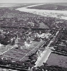 Aerial view of the Royal Palace in Phnom Penh, #Cambodia | © unknown
