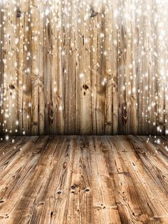 Snow Falling Christmas Background Wood Backdrops 3x5ft for Newborn Digital…