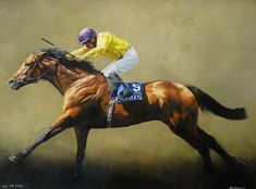 Sea the Stars Original Horse Racing Painting by Sean McMahon