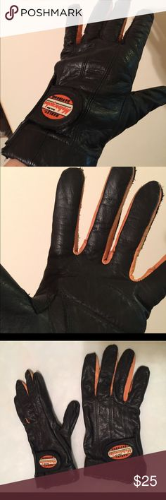 Harley Davidson women's perforated leather gloves Harley Davidson women's perforated leather gloves, size XL.  Black leather with orange accents Harley-Davidson Accessories Gloves & Mittens