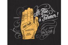 Hi Five a Farmer   Neil Tasker  THESE FONTS ROCK
