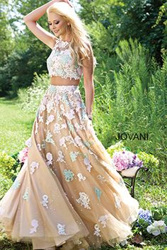 Multicolored Two-Piece Dress 24284