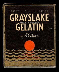 Very Art Deco Grayslake Gelatin Package1929 by ARTDECOGRAPHICS, $20.00