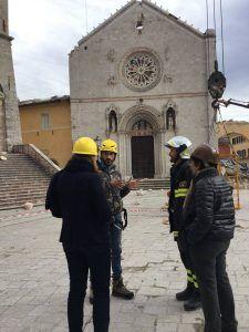 Terremoto Umbria, Vigili del Fuoco in azione a Norcia, Spoleto e Foligno