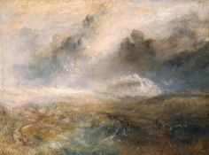 J. M. W. Turner, Rough Sea with Wreckage, c.1840-45, oil on canvas, 92.1 x 122.6 cm, Tate Collection.
