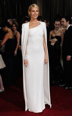 Gwyneth Paltrow in Tom Ford Oscars 2012.  The structured cape is fantastic.  She is a fashion superhero.