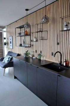 Modern Kitchen Design, Interior Design Kitchen, Black Kitchens, Home Kitchens, Kitchen Living, Kitchen Decor, Diy Kitchen, Kitchen Ideas, Küchen Design
