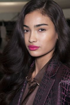 Soft statement lip -- The Makeup at Diane von Furstenberg, New York