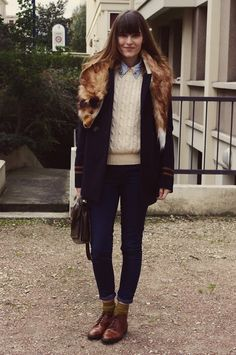 Etienne, my fake fox fur