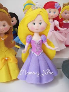 Rapunzel em Feltro www.mamaynena.com.br