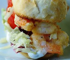 shrimp po boy...LOVE THESE