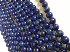 A Grade Lapis Lazuli Beads  6mm by TJaysBeads on Etsy