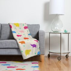 What a cute, stylish hippo blanket! We may not have natural layers to keep us warm, but this blanket can help!