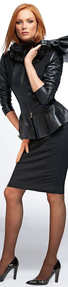 Lady Ceo- New 2014 Madeleine Fall Arrivals.Suits, Jackets, and Skirts-~LadyLuxury~ Fashion Moda, Look Fashion, Womens Fashion, Style Work, My Style, Blazer, Glamour, Leather Dresses, Look Chic