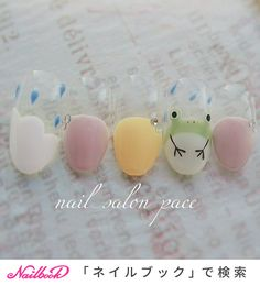 Kawaii Nail Art, Cute Nail Art, Cute Nails, Pretty Nails, Pretty Nail Designs, Gel Nail Designs, Gel Acrylic Nails, Gel Nails, Art Deco Nails