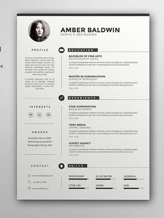 Resume  Cv Template With Portfolio  A Portrait  Design Haven