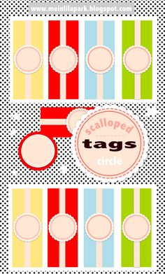 FREE printable scalloped circle tags and labels | MeinLilaPark – digital freebies