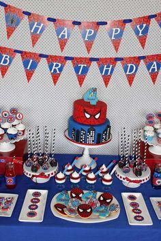 Ideas para Tu Fiesta: Spiderman - Hombre Araña.  Cumpleaños. Birthday. Mesa Dulce. Candy Bar. Party. Ideas