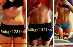 The scale is NOT important. Her results show higher weight in lbs AFTER her transformation.  Muscle weighs more than fat. If you are gaining weight while working out or you plateau, its NOT a bad thing.