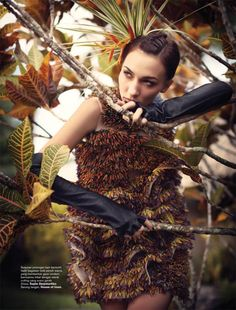 Julia Jamil by Davy Linggar for Harper's Bazaar Indonesia August 2010, Goes Tribal 14