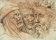 Pisanello, Three men, one wearing spectacles, mid 15C. Codex Vallardi 2623 r, Louvre, Paris.