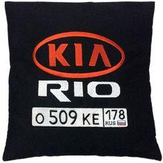 Автомобильная подушка с вышивкой - отличный подарок автолюбителю