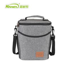 52.60$  Watch here - http://airbe.worlditems.win/all/product.php?id=32790809321 - Large Bucket Insulation Package Lunch Bags Ladies Warm Food Picnic Boxes Office Staff Aluminum Thermo Cooler Women HandBags Gray