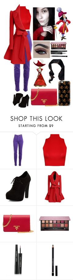 """""""Captain Hook."""" by annacastrolima ❤ liked on Polyvore featuring Versace Jeans Couture, WearAll, New Look, Disney, Prada, Anastasia Beverly Hills, Dolce&Gabbana, Givenchy, Mary Kay and Casetify"""
