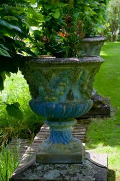 Painted Urn in Classical Garden