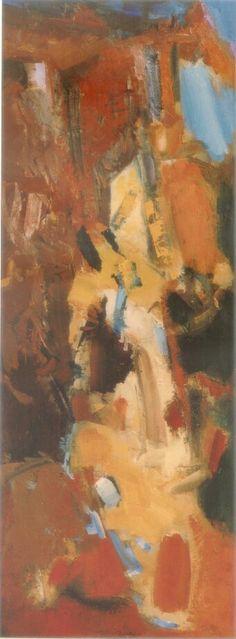 Alberto Boschi - Le stagioni vengono e vanno  - Autunno - olio su tela cm 120 × 45 - 2008