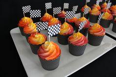 Hotwheel Cupcake decoration idea. Simple, but CUTE!!