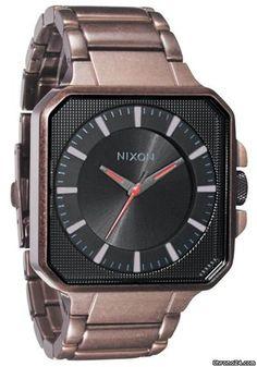 Nixon The Platform Antique Copper/Black Men´s Watch $245 #watch #watches steel bracelet