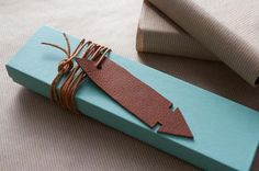 Handmade Charlotte Family Craft Challenge Finalist: Leather Arrow Gift Tags (vote for your favorite project!)